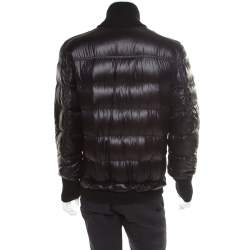 Dolce & Gabbana Black Quilted Bomber Jacket M
