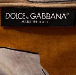 Dolce & Gabbana Multicolor Sicilian Western Print Cotton T-Shirt M