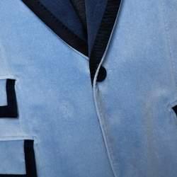 Dolce & Gabbana Blue Velvet Casino Tuxedo Jacket M