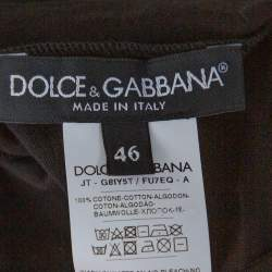 Dolce & Gabbana DG Millennials Black Cotton King Print T Shirt S