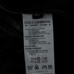 Dolce & Gabbana Black Owl patch Hoodie Bomber jacket M