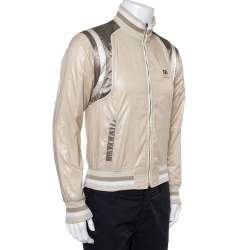 Dolce & Gabbana Cream Bomber Jacket XS