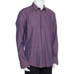 Dolce & Gabbana Bicolor Cotton Button Front Martini Shirt 3XL