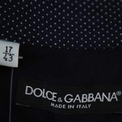 Dolce & Gabbana Navy Blue Cotton Paneled Button Front Shirt XXL
