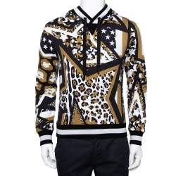 Dolce & Gabbana Multicolor Multiprinted Cotton Hoodie XS