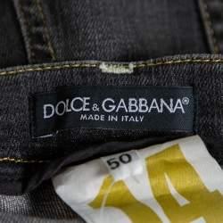 Dolce & Gabbana 14 Dark Grey Denim Faded Effect Jeans L