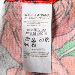 Dolce & Gabbana Grey Printed Cotton Crewneck T-Shirt S