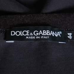 Dolce & Gabbana Grey Sacred Heart Flock Print Cotton T-Shirt XS