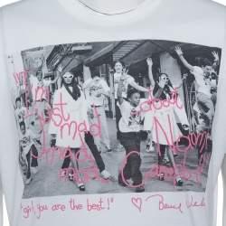 Dolce & Gabbana for Naomi White Photo Printed Cotton Crewneck T-Shirt XL