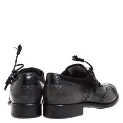 حذاء أكسفورد دولتشي أند غابانا أربطة سويدي وجلد بروغي سوداء مقاس 44