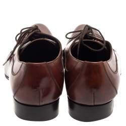 Dolce & Gabbana Brown Leather Lace Up Derby Size 45