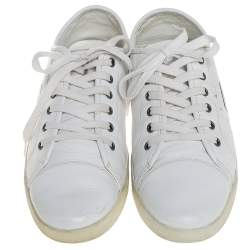 Dolce & Gabbana White Leather Low Top Sneakers Size 42.5