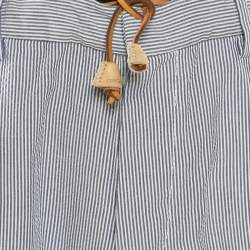 Dsquared2 Blue and White Striped Seersucker Pants S