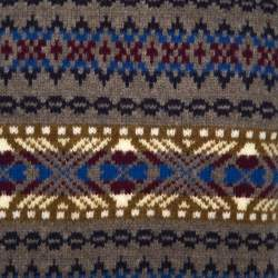 Dsquared2 Taupe Jacquard Wool Sleeveless Sweater L