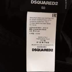 Dsquared2 Black Wool Blend Logo Stripe Detail Joggers L