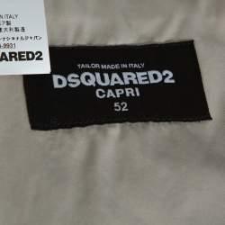 Dsquared2 Capri Beige Cotton Button Front Jacket XL