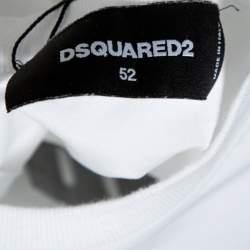 Dsquared2 White Logo Print Cotton Long Sleeve Shirt XL