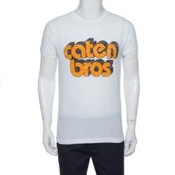 Dsquared2 White Caten Bros Print Cotton Chic Dan Fit T-Shirt M