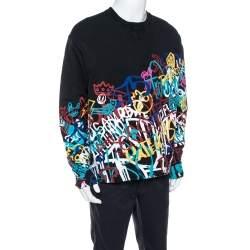 Dsquared2 Black Graffiti Print Cotton Cool Fit Sweatshirt XL