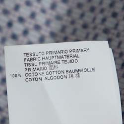 Dsquared2 Purple Printed Cotton Long Sleeve Shirt XL