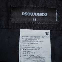Dsquared2 Black Denim Tapered Leg Black Bull Jeans M
