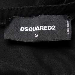 Dsquared2 Black Logo Graphic Printed Cotton Crewneck T-Shirt S