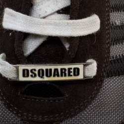 Dsquared2 Black/Grey Suede and Nylon Donna Low Top Sneakers Size 45