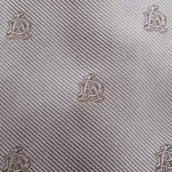 Dunhill Grey Logo Embroidered Silk Tie