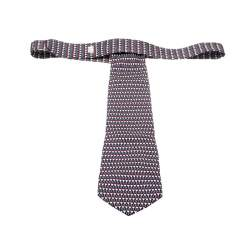Dunhill Multicolor Silk Abstract Geometric Print Tie