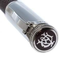 Dunhill Sentryman Brown Leather Palladium Plated Ballpoint Pen