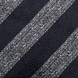 Dunhill Navy Blue Diagonal Stripe Mulberry Silk Jacquard Tie