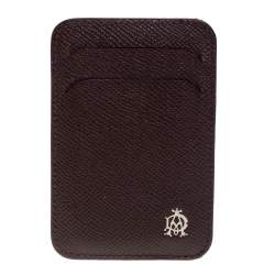 Dunhill Burgundy Leather Card Holder