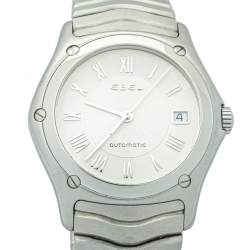 Ebel Silver Stainless Steel Classic Wave Automatic 9120F41 Men's Wristwatch 37mm