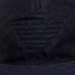 Emporio Armani Navy Blue Logo Detail Baseball Cap L