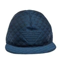 Emporio Armani Blue Logo Detail Baseball Cap L