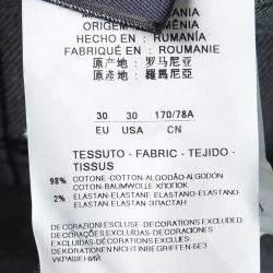 Emporio Armani Indigo Dark Wash Denim Basic Fit Jeans S