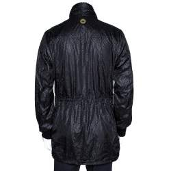 Emporio Armani Black Perforated Emile Line Jacket XL