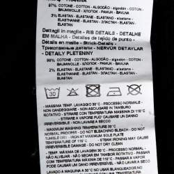 سويت شيرت امبوريو أرماني قطن مطبوع شعار الماركة أسود مقاس كبير جداً جداً جداً (اكس اكس اكس لارج)