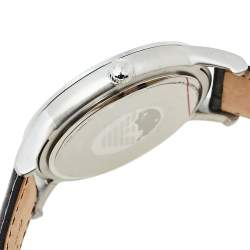 Emporio Armani Brown Stainless Steel & Leather Classic AR2413 Men's Wristwatch 43 mm