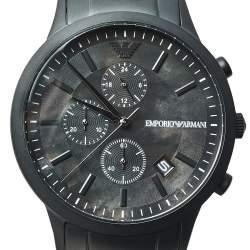 Emporio Armani Black PVD Stainless Steel Chronograph AR11275 Men's Wristwatch 43 mm