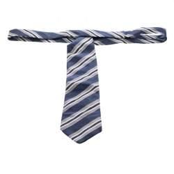 Ermenegildo Zegna Striped Silk Jacquard Traditional Tie
