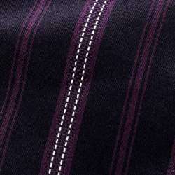 Ermenegildo Zegna Navy Blue and Purple Diagonal Striped Silk Jacquard Tie