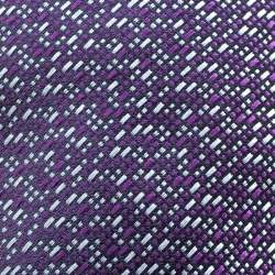 Ermenegildo Zegna Purple and Grey Patterened Silk Jacquard Tie