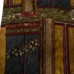 Ermenegildo Zegna Vintage Multicolor Printed Silk Traditional Tie