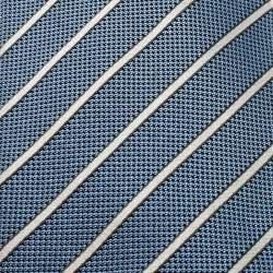 Ermenegildo Zegna Couture Blue Striped Jacquard Silk Tie