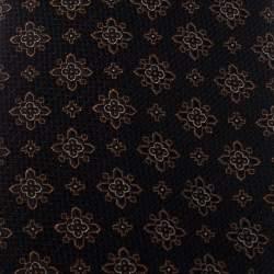 Ermenegildo Zegna Couture Black Floral Motif Jacquard Silk Tie
