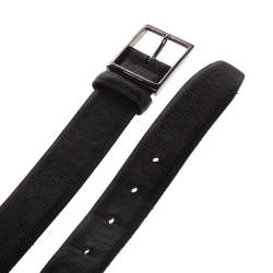 Ermenegildo Zegna Black Leather Belt 130CM