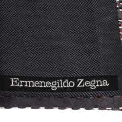 Ermenegildo Zegna Grey Diagonal Pattern Silk Tie