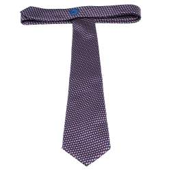 Ermenegildo Zegna Vibrant Purple & Blue Abstract Printed Silk  Tie