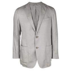 Ermenegildo Zegna Beige Tailored Blazer L